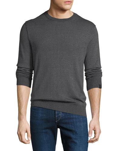 Men's Davis Merino/Linen Crewneck Sweater