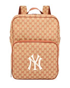 Gucci Men's GG Supreme Backpack with NY Yankees