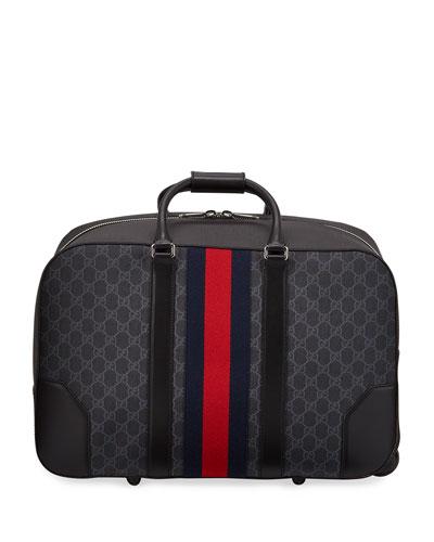 Men's GG Supreme Rolling Weekender Duffel Carryon Bag