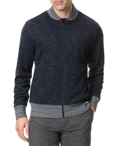 Men's Scene Lane Zip-Front Heathered Knit Jacket