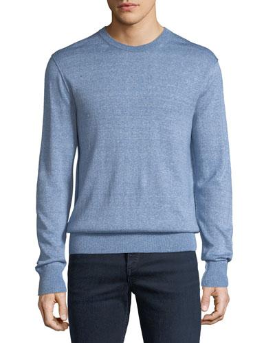 Men's Dean Merino/Linen Crewneck Sweater