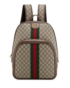 Gucci Men's GG Supreme Medium Canvas Backpack