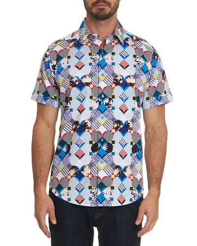 Men's Tayson Multicolor Button Shirt