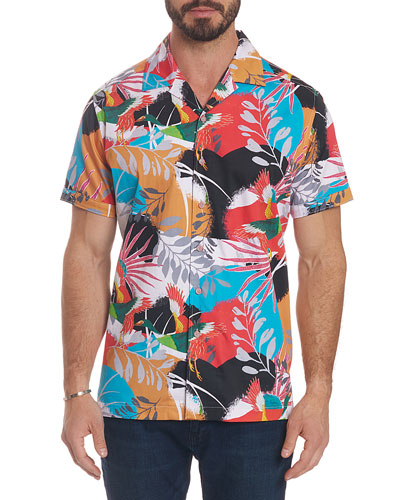 Men's Sakura Short-Sleeve Button Shirt