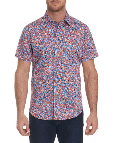 Men's Kabuki Short-Sleeve Multicolor Shirt