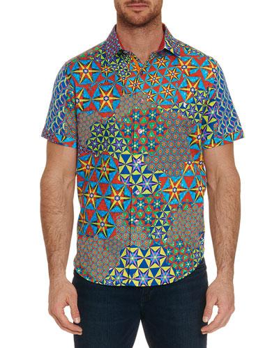 Men's The Prism Short-Sleeve Button Shirt