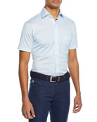 Peter Millar Men's Mesh Short-Sleeve Jersey Print Shirt