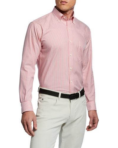 Men's Capri Stripe Woven Sport Shirt
