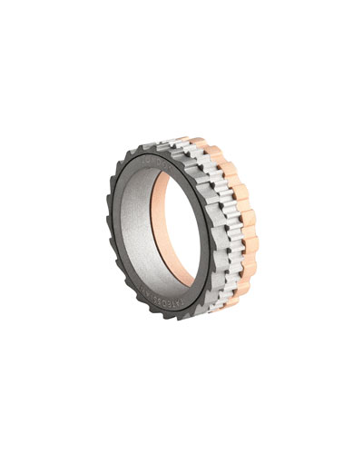 Men's Rotating Gears Band Ring