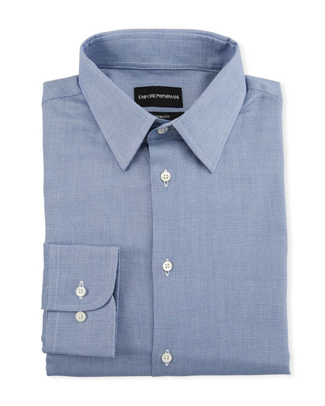 Emporio Armani Men's Tonal Square Modern-Fit Dress Shirt