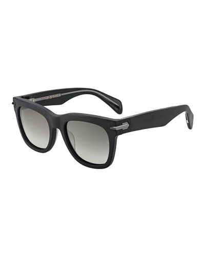 Men's Dagger-Hinge Acetate Sunglasses