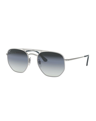 216ecb8e47974 Quick Look. Ray-Ban · Men s Hexagonal Metal Sunglasses with Gradient Lenses.  Available in Blue