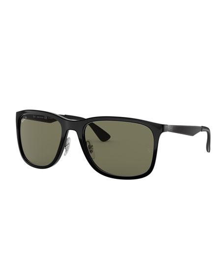 Ray-Ban Men's Square Polarized Propionate Sunglasses