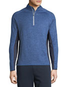 Peter Millar Men's Sydney Colorblock Quarter-Zip Sweater