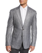 Emporio Armani Men's Bamboo Windowpane Sport Coat