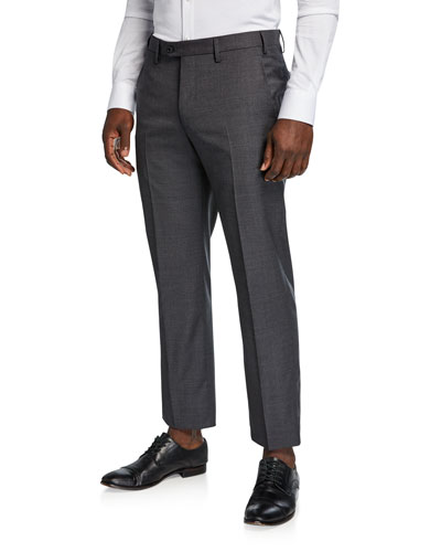 Men's Classic Straight-Leg Wool Trousers