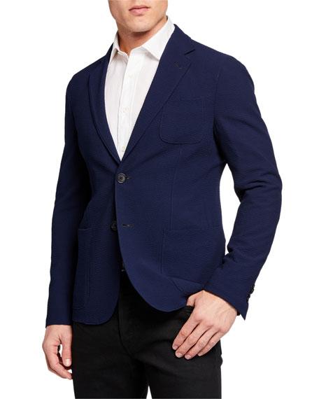 Giorgio Armani Men's Solid Stretch Seersucker Sport Coat