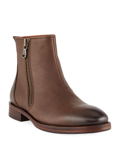 Men's Mitchell Side-Zip Leather Boots