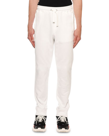 Valentino Men's Rockstud-Trim Jersey Sweatpants