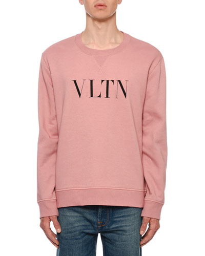Men's VLTN Logo Typographic Sweatshirt