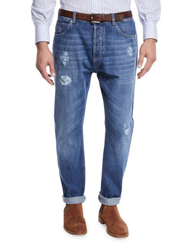 Men's Medium Wash Denim Jeans