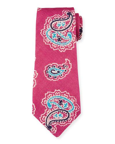 Bali Print Linen Tie