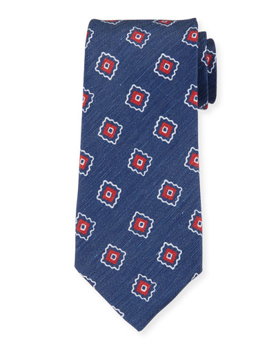Camargue Large-Floral Printed Tie, Multi