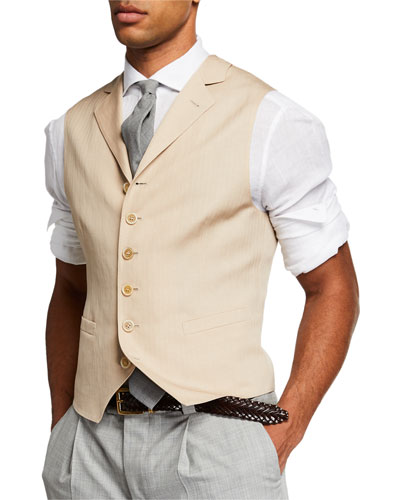 Men's Single Breasted Gilet Vest