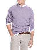 Brunello Cucinelli Men's Raglan-Sleeve Crewneck Sweater
