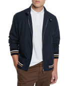 Brunello Cucinelli Men's Moto Collar Bomber Jacket
