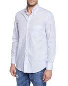 Brunello Cucinelli Men's Washed Stripe Sport Shirt