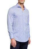 Brunello Cucinelli Men's Basic Fit Pique Sport Shirt