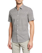 Salvatore Ferragamo Men's Gancini Short-Sleeve Shirt