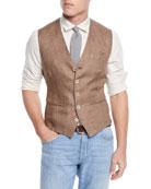 Brunello Cucinelli Men's Linen Gilet Vest
