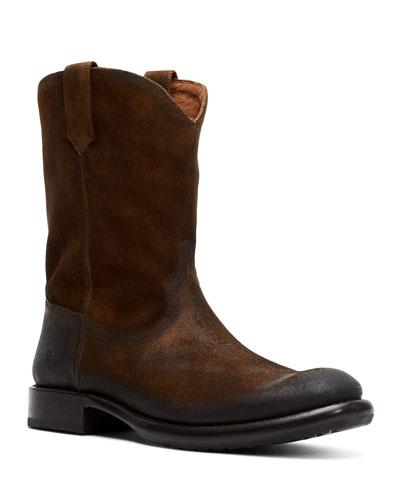 Men's Duke Roper Western Suede Boots