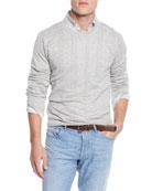 Brunello Cucinelli Men's Open-neck Sweatshirt