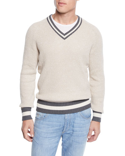 Men's Donegal V-Neck Sweater