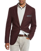 Brunello Cucinelli Men's Prince of Wales Blazer