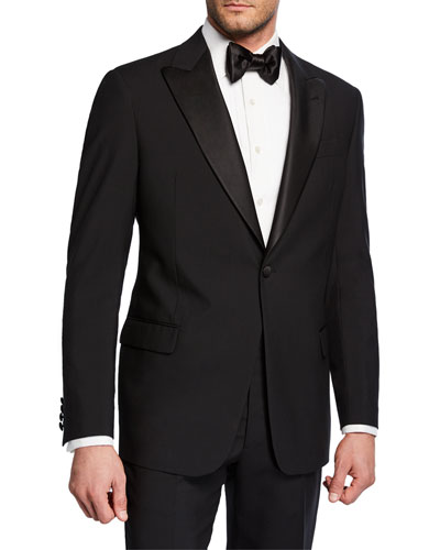 Men's Tonal Geometric Two-Piece Tuxedo Suit