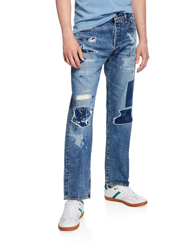 Men's Made & Crafted 501® Original-Fit Distressed Jeans