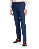 Etro Men's Wool-Cotton Straight-Leg Pants