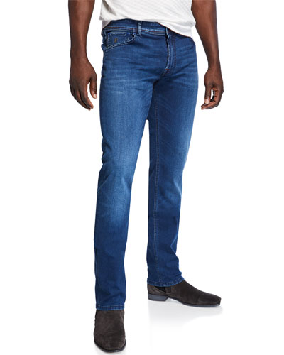 Men's Five-Pocket Stretch-Denim Jeans