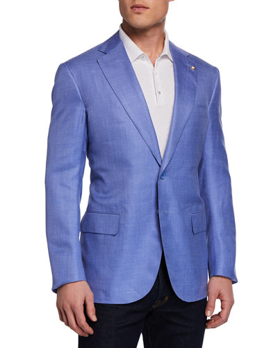 Men's Solid Sport Coat Jacket