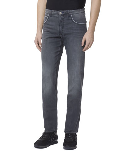 Men's Embroidered Patch Denim Jeans