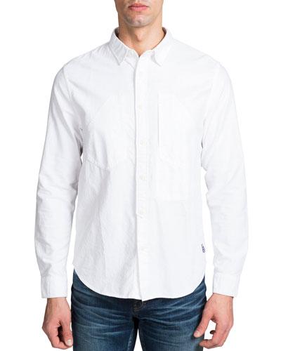 Men's Long-Sleeve Woven Sport Shirt