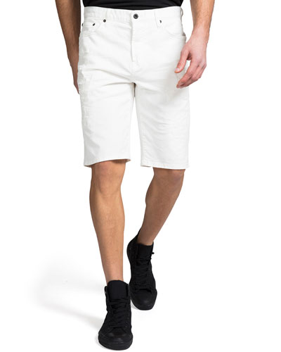 Men's Twill Shorts with Abrasions