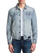 PRPS Men's Hickory Stripe Denim Jacket
