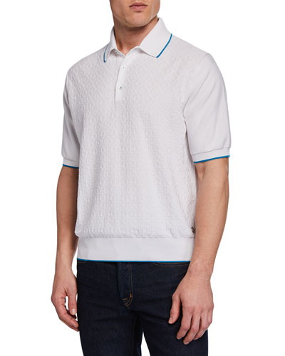 Men's Short-Sleeve Contrast-Tipped Polo Shirt