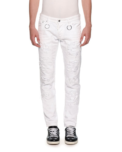 Men's Slim Ripped Jeans
