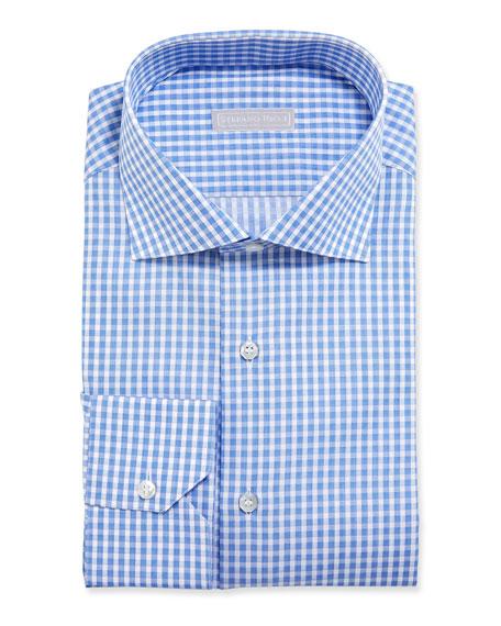 Stefano Ricci Men's Gingham Dress Shirt